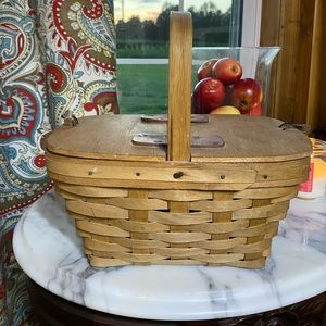 Handmade signed basket picnic or purse